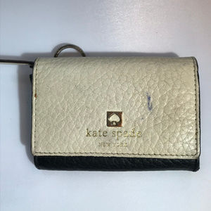Kate Spade Black and White Leather Wallet